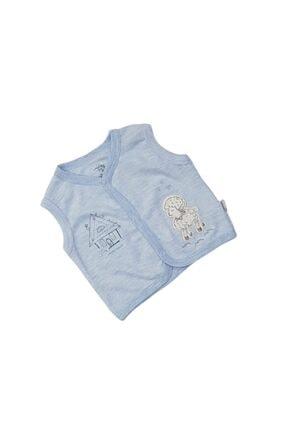 Bebengo Erkek Bebek Kuzu Işlemeli Penye Yelek 3012