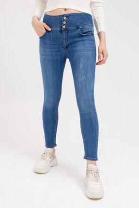 Lafaba Kadın Mavi Yüksel Bel Skinny Jeans 20Y842078
