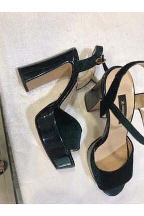 Kriste Bell Yeşil Platform Topuklu Kadın Ayakkabı