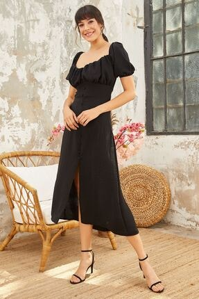 Mispacoz S902 Elbise Siyah
