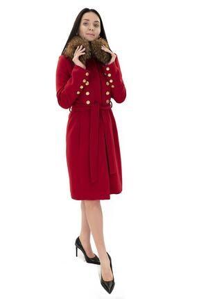 Gizia Kadın Kırmızı Kaban M12kdl0171