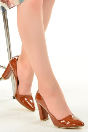 Ayakland 137029-311 Rugan 8 Cm Topuk Bayan Ayakkabı
