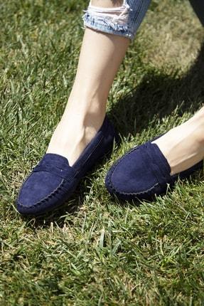 Ayakkabı Modası Lacivert Kadın Babet 5008-20-111008