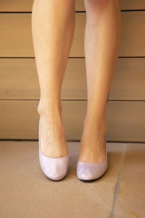 Ayakkabı Modası Lila Kadın Babet 4000-20-111015