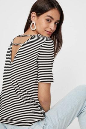 Pieces Kadın Beyaz Sırt Detaylı V Yaka T-Shirt 17101393 PCHANNAH 17101393
