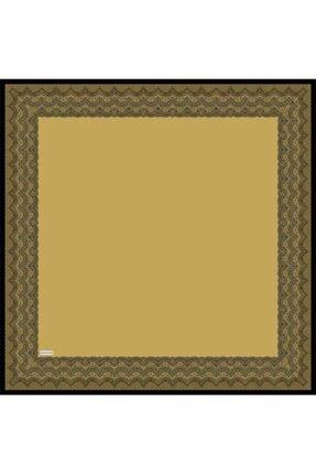Sarar Kenarı Yaldızlı Duz Renk Ipek Esarp 1682-5 90x90 Cm