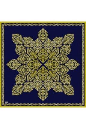 Sarar Kenarı Yaldızlı Duz Renk Ipek Esarp 1761-18 90x90 Cm