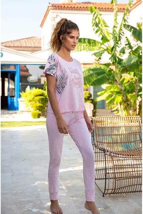 Berrak 879 Kadın Pijama Takımı - Pembe Melanj