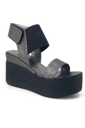 Guja Platin Dolgu Topuk Ortopedik Kadın Sandalet