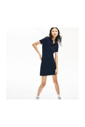 Lacoste Kadın Lacivert Polo Yaka Kısa Kollu Elbise EF5473