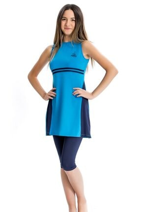 Armes Genç Kız Garson Beden Yarım Tesettür Elbise Mayo