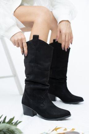 derithy Stella-çizme-siyah Süet-knn3004