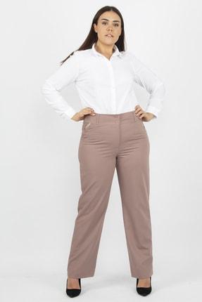 Şans Kadın Vizon Klasik Kumaş Pantolon 65N19105