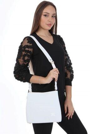 My Valice Kadın Beyaz Çapraz Omuz Kol Çantası Smart Bag 1305