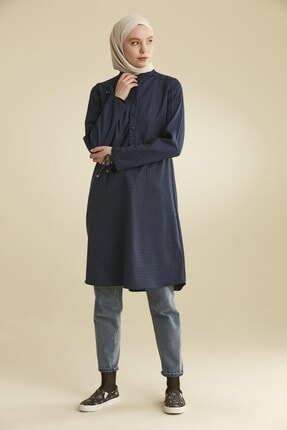 Tuğba Kadın Lacivert Tunik