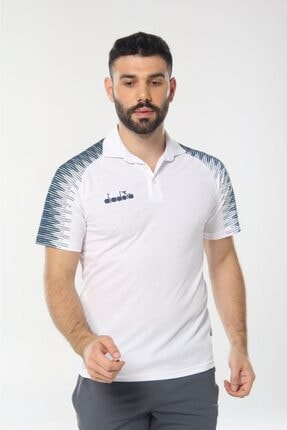 Diadora Unisex Beyaz Ritim Kamp Polo T-shirt