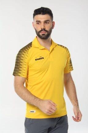 Diadora Unisex Sarı Ritim Kamp Polo T-shirt