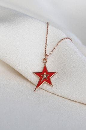 Lima Designers Yıldız Kırmızı Mineli Kolye