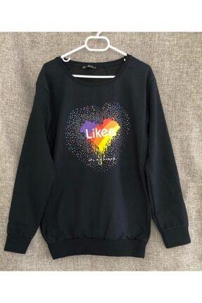 Eflatun Kadın Lacivert Sweatshirt