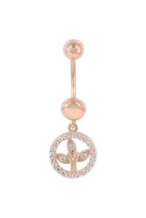 Myra Gold Sallantılı Taş Detayli Rose Altın Piercing