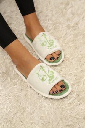 Ayakkabı Modası Kadın Yeşil  Ev Terliği