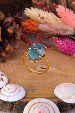 Atelier GemStone Kadın Sarı Turkuaz Yüzük