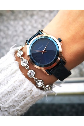 Homies Kadın Lacivert Çelik Saat ve Bileklik