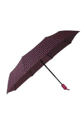 TREND Tam Otomatik Şemsiye Kalp Desenli Pembe 6639