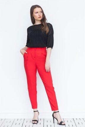 Chima Kadın Kırmızı Pileli Pantolon