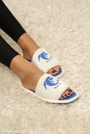 Ayakkabı Modası Kadın Mavi Ev Terliği