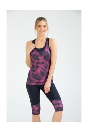 Umbro Kadın Pembe Fitness Bermuda Tayt Takım Vb-0001