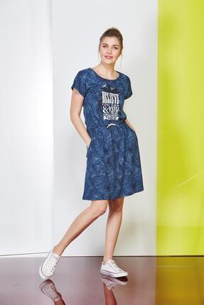 PJS PİJAMA Baskılı Desenli Bayan Elbise 20680