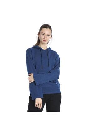 Sportive Kadın Mavi Kapüşönlü Sweatshirt 711015-ptr