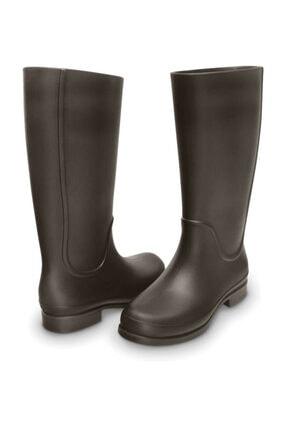 Crocs Wellıe Raın Boot Women Kahverengi Kadın Çizme