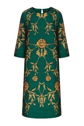 Faberlic Yeşil Koyu Uzun Kollu Küpür Elbise 46 Beden