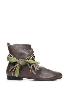 Bueno Shoes Fermuar Ve Püsküllü Hakiki Deri Kadın Düz Bot 9p5915