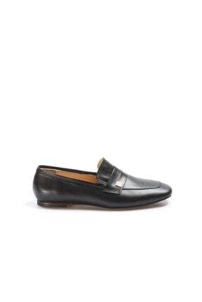 Fast Step Hakiki Deri Siyah Kadın Kalın Topuklu Ayakkabı 064za790