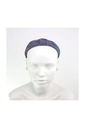 Hane14 Düğümlü Simli Taç Saç Aksesuarı Mor Mavi