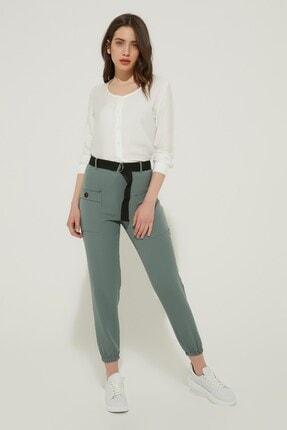 Zindi Kadın Kemerli Pantolon Mint