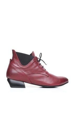 Bueno Shoes Bağcıklı Ve Lastikli Hakiki Deri Kadın Düz Bot 9p5505