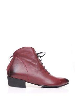 Bueno Shoes Fermuar Ve Bağcıklı Hakiki Deri Kadın Düz Bot 9p7104