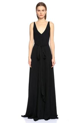 Lanvin Siyah Uzun Gece Elbisesi