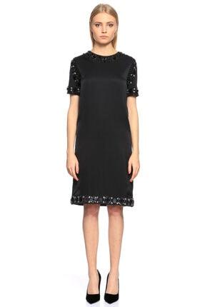 Lanvin Taş Işlemeli Siyah Elbise