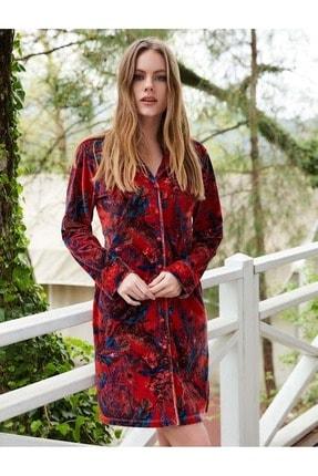 PENYE MOOD Penye Mood 8404 Kadın Önden Düğmeli Elbise - Penye Mood - Görsel Rengi - Xl