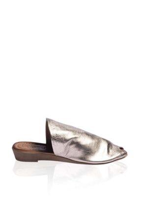 Bueno Shoes Ucu Açık Hakiki Deri Kadın Düz Terlik 9n7204