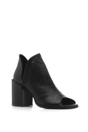 İlvi Alli Bayan Sandalet Siyah Deri