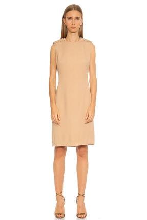 Lanvin Boncuk Detaylı Ten Rengi Elbise