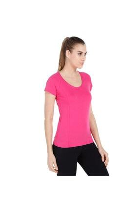 Sportive Supnecku Kadın Pembe Günlük Stil Tişört 400210-fuc