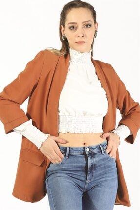 Twister Jeans Kadın Bayan Astarlı Cepli Ceket 19624 Kiremit