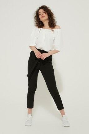 Zindi Kadın Beli Bağlamalı Pantolon Siyah